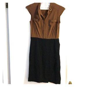 Ann Taylor Size 2 chiffon stretch pencil dress